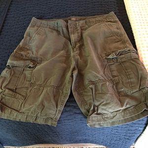 Old Navy Olive Cargo Shorts